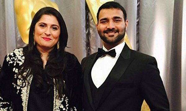 Asad with Sharmeen Obaid Chinoy