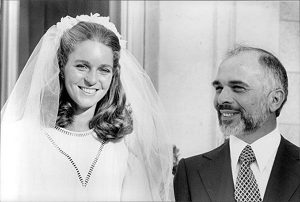 Lisa Halaby and King Hussein
