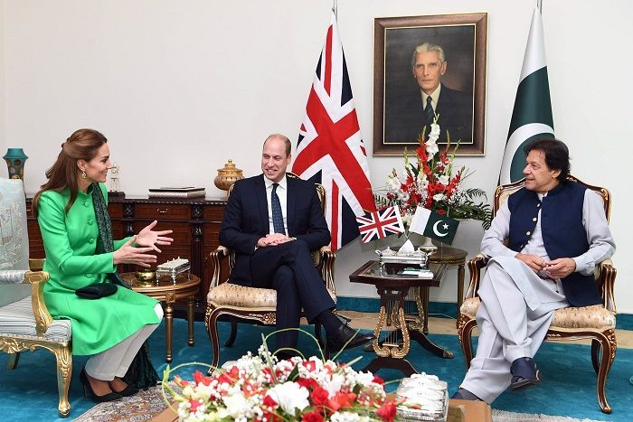 Prince William and Kate Middleton with Imran Khan