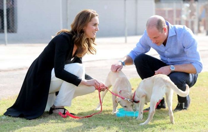 Royal couple at army canine centre