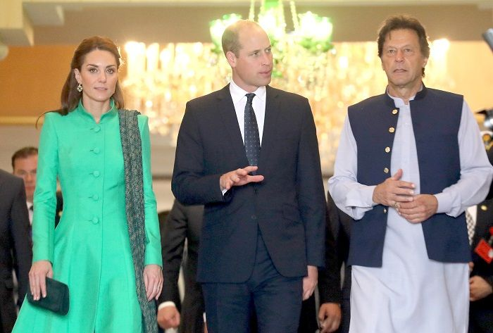 The Duke and duchess of cambridge with Imran Khan