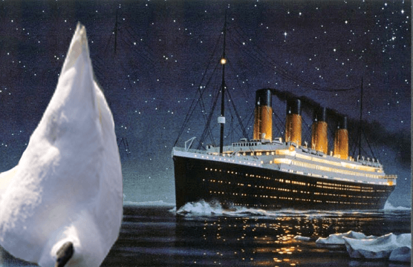 Titanic hit the iceberg