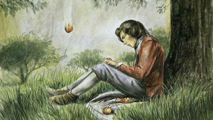 An Apple never fell on Isaac Newton - Famous Moments in History