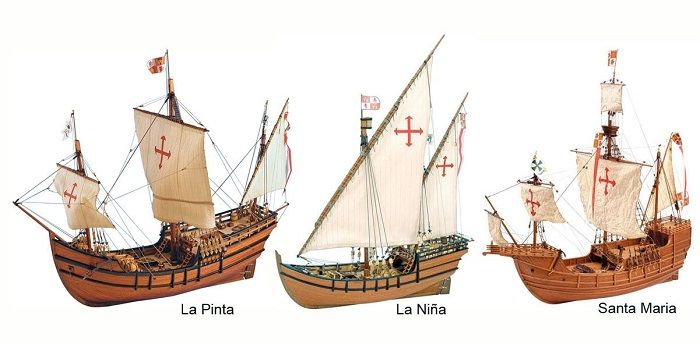 The Santa Maria, Nina, and Pinta weren't the names of Columbus's Ships