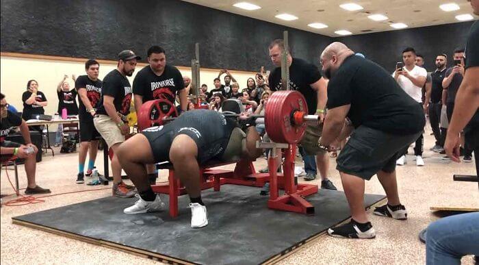Julius Maddox weight lifting