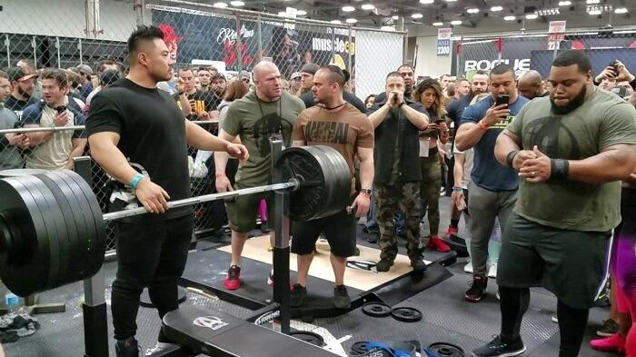 Julius Maddox lifting 744 pounds