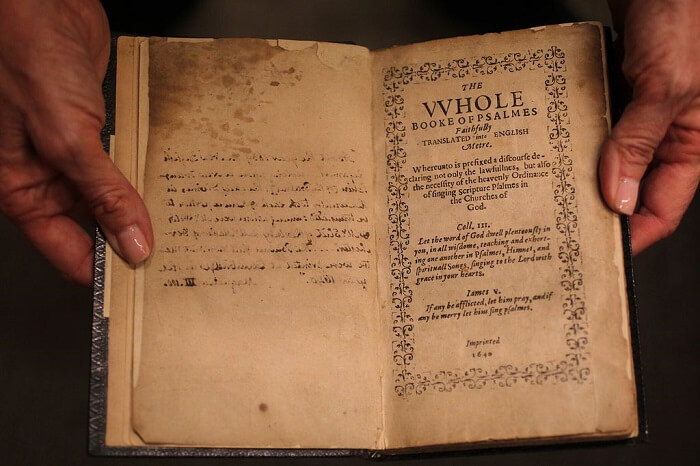 Bay Psalm Book -Most Expensive Books in the World