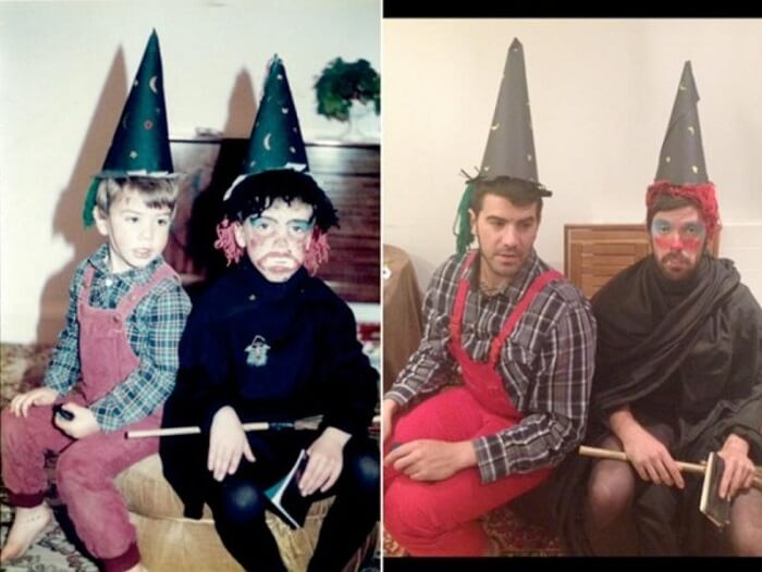 Two Brothers Surprised Mom by recreating childhood photos