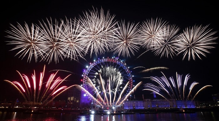 London, New Year 2020 celebrations