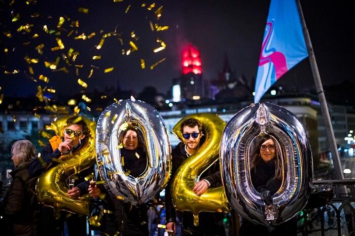 Switzerland, New Year 2020 Celebrations
