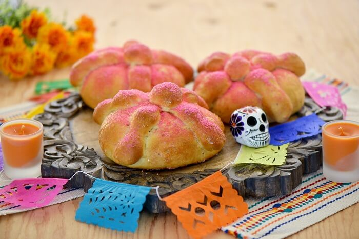 Pan de Muerto is known as the Bread of the Dead
