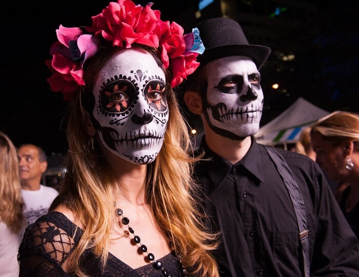The day of the dead is not similar to Halloween