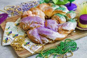King cake of Mardi Gras