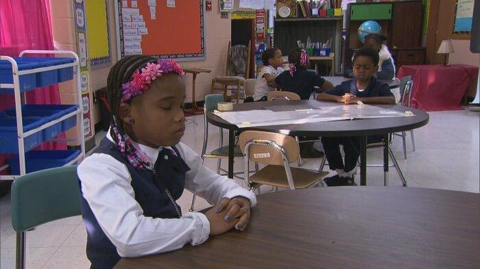 Baltimore school uses meditation