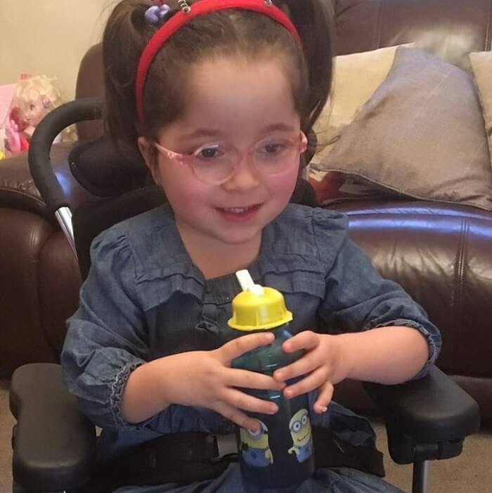 A Brave Girl with Cerebral Palsy