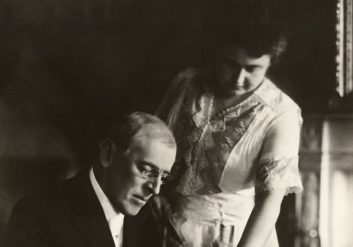 President Woodrow Wilson and his wife