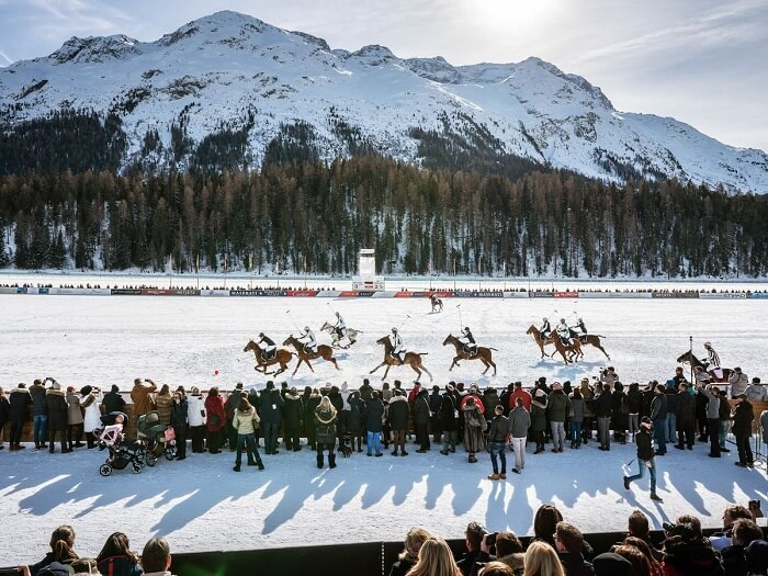Ice Polo at Swiss Alps