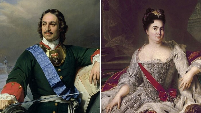 Peter the Great beheaded wife's lover