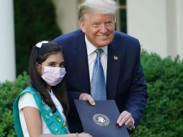 Trump Honors Pakistani-American Girl for Contributions in COVID-19