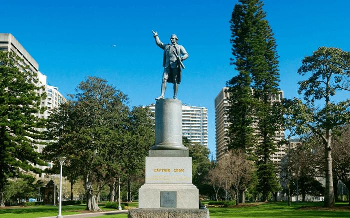 Captain James Cook statue, Hyde Park, Australia