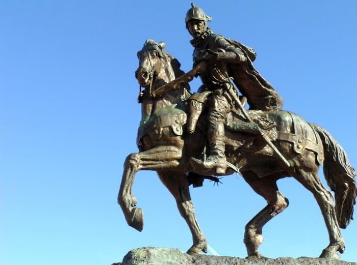 The Don Juan de Oñate statue, Alcalde, New Mexico