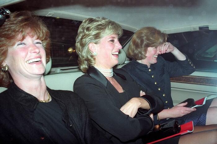 Princess Diana with sisters