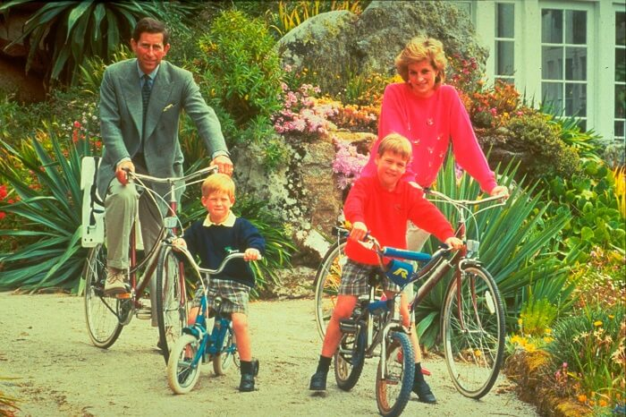 Prince Charles with family