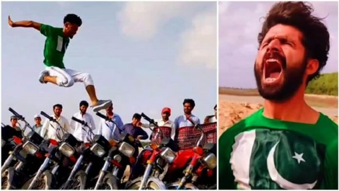 A Pakistani TikToker Goes Viral After a Long Jump Over 11 Motorbikes