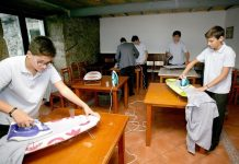 A School in Spain Teaches Boys Household Chores